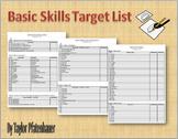 Basic Skills Target List
