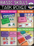 Basic Skills Task Boxes (for Pre K and Special Education) #warmupwithsped2