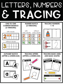 Basic Skills Task Boxes (for Pre K and Special Education)