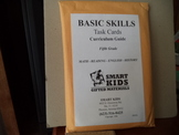 SMART KIDS GIFTED MATERIALS TASK CARDS   SET OF 67 CARDS