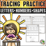 Tracing Letters, Tracing Numbers, and Tracing Shapes Handwriting Practice Bundle
