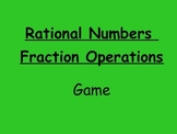 Rational Numbers Fraction Operations Game