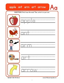 Basic Skills Workbook - Preschool Kindergarten Primary - Alphabet Skills