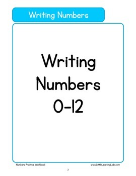 Basic Skills Workbook - Preschool Kindergarten Primary - Number Sense