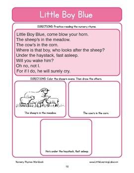 Basic Skills Workbook - Preschool Kindergarten Primary - Nursery Rhymes