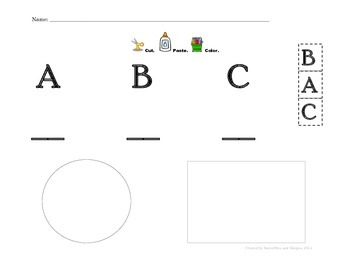Basic Skills for Kindergarten Readiness - Cut and paste CAPITALS