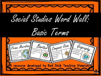 Social studies vocabulary word wall teaching resources teachers basic social studies terms word wall basic social studies terms word wall fandeluxe Gallery