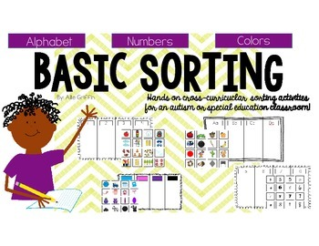 Basic Sorting Pack [Counting, Number Identification, Alpha