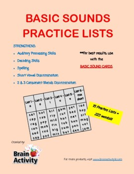 Basic Phonics Sounds Decoding Workbook