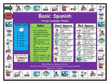 Basic Spanish Board Game