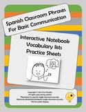 Basic Spanish Classroom Communication Phrases Interactive