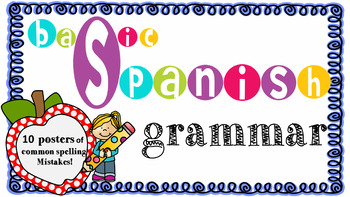 Basic Spanish Grammar Posters