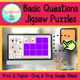 Basic Spanish Questions Jigsaw Puzzles Print and Google Slides