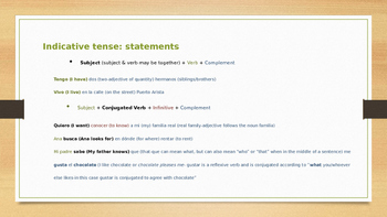 Basic Spanish: Sentence Structure and Reflexive Verbs
