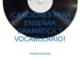 Basic Spanish Vocab and Grammar Songs
