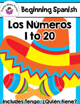 Beginning Spanish Days of the Week, Numbers 1 -20, Weather and Seasons Bundle