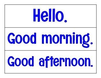 Basic Spanish Vocab Flashcards - Aligned with Avancemos Level 1 (Prelim Lesson)