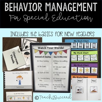 Special Education Is Really Tough >> Basic Special Education Behavior Management Pack By Teach2succeed