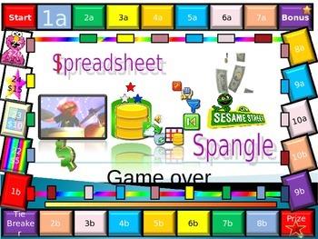 Basic Spreadsheet Quiz Test for Grade 7 Year 7 ICT
