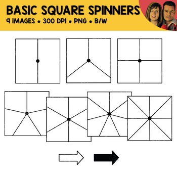 Basic Square Spinners Clipart