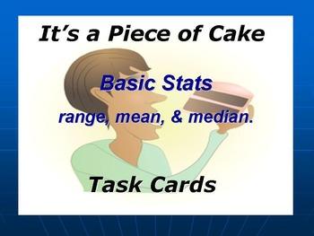 Basic Stats Task Cards: Mean, Median, & Range.
