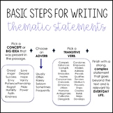 Basic Steps for Writing Thematic Statements