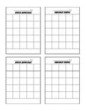 Basic Sticker Chart for Speech/ Language Intervention