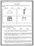 Basic Story Elements Worksheet or Assessment Character Set
