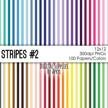Basic Stripe Digital Paper Background 12x12 Commercial Use