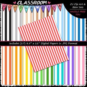Basic Stripes 2 - 17 CU 8.5x11 Digital Papers