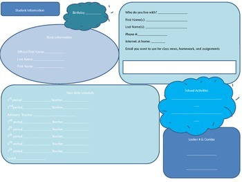 Basic Student Information Sheet