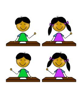 Basic Student and Teacher Clip Art