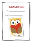Basic Substitute Packet (folder) for Elementary Teachers