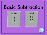 1-digit and 2-digit Subtraction with No Regrouping