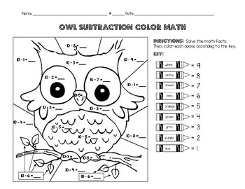 Basic Subtraction Color Math