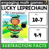 Saint Patrick's Day Subtraction Facts  Game
