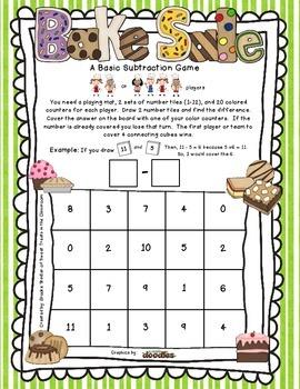 Basic Subtraction Game - Bake Sale