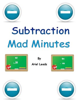 Basic Subtraction Mad Minute Set