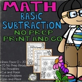 Subtraction Worksheets, Basic Subtraction, Basic Facts, Subtraction Word Problem