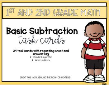 Basic Subtraction Math Task Cards
