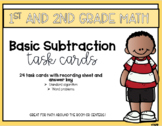 Basic Subtraction Math Task Cards
