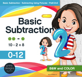 Basic Subtraction • Pictures • Worksheets • Fact Quizzes • Charts/Award