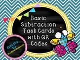 Basic Subtraction QR Task Cards