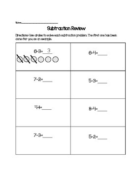 Basic Subtraction Review Packet