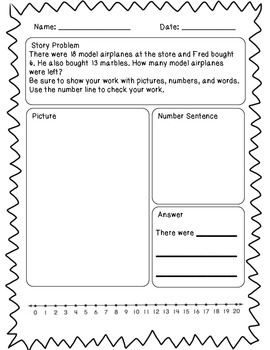 Basic Subtraction Story Problems