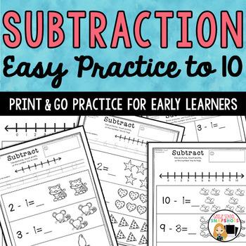 Subtracting Tens Worksheets Teaching Resources | Teachers Pay Teachers