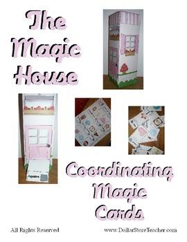 Basic Subtraction for 0 -10 Magic House cards - Math Center Fun Activity