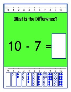 Basic Subtraction using 0 to 10 ~ What is the Difference?160 Equations 324 pages
