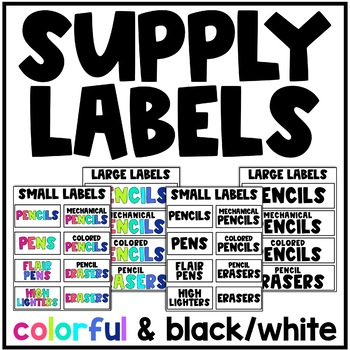 Basic Supply Labels