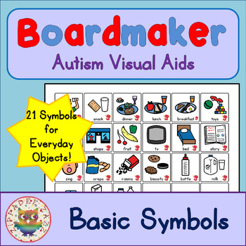 Basic Symbol Cards - Boardmaker Visual Aids for Autism SPED